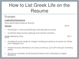 Sorority Resume Template Resume And Cover Letter Writing For Life ...