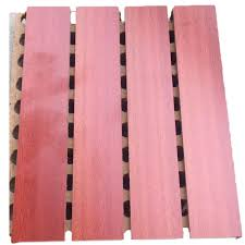 china composite wall boards fiber wood plastic grooved acoustic tiles for soundproofing walls supplier