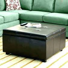 faux leather coffee table home storage ottoman with trays faux leather coffee table bonded clydell round