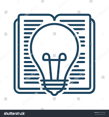 Light Bulb Symbol Meaning Book Light Bulb Vector Icon Meaning Stock Vector Royalty