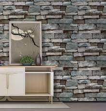 ConCus-T Grey Brick Wallpaper 45×600CM ...