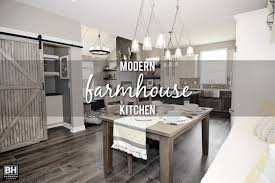 Farm House Kitchen Showcase Home Features Modern Farmhouse Kitchen