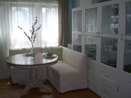 Dining Room. Large Dark Brown Varnished Wooden Kitchen Banquette ...
