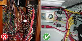 boat maintenance horrors boatus magazine Good Pictures Of Marine Wiring photo of examples of good and bad boat wiring Marine Wiring Color Code