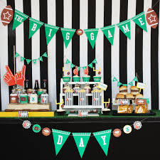 Cheap Super Bowl Decorations FootballSuper bowl Birthday Party Ideas 8