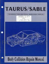ford taurus and mercury sable wiring diagram original 1986 1996 ford taurus mercury sable body collision repair shop manual original