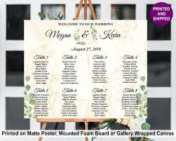 Marble Greenery Seating Chart In 2019 Wedding Seating