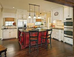 Red Kitchen Pendant Lights Uncategorized Incredible Rustic Red Stained Wooden Island For
