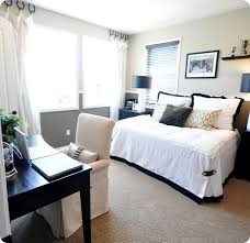 Guest Bedroom And Office Combined Functional Space Guestbonus Classy Home Office Bedroom Combination Decor Collection