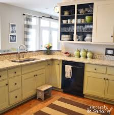 Painting The Kitchen Painting Kitchen Cabinets With Chalk Paint Update Sincerely Sara D