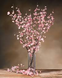 cherry blossom silk flower stems for casual decorating at petals