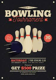 Bowling Event Flyer Vintage Bowling Tournament Flyer