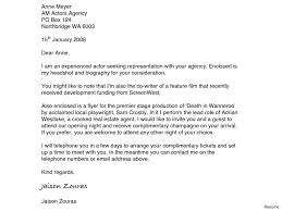Cover Letter Resume Enclosed Cover Letter To Acting Agents Juzdeco 79