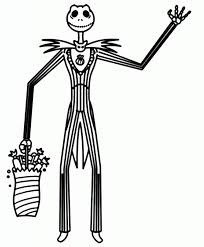 Jack Skellington Christmas Coloring Pages For Kids With Free