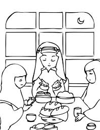 Small Picture Ramadan Coloring Pages For Kids is an Islamic Colouring Activity