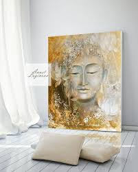buddha painting gold wall decor boho