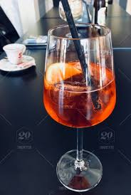 traditional italian cocktail spritz copy space nominated