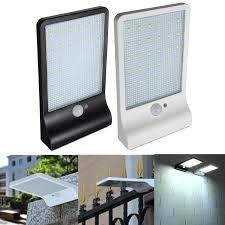 36led solar power pir motion sensor wall light outdoor waterproof garden lamp