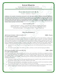 Example Of Teacher Resume Inspiration Resume Format Of Teacher Sample Teacher Resumes View Page Assistant