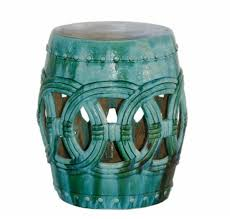 blue rope ceramic garden stool