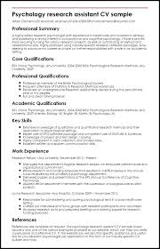 Psychology Resume Examples Delectable Psychology Resume Sample DiplomaticRegatta