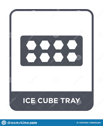 Design Style Tray Ice Cube Tray Icon In Trendy Design Style Ice Cube Tray