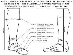 Cowboy Boot Fitting Chart Caboots Sizing Measurements Measurement Instructions