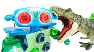 Design And Drill Robot Design Drill Robot Defeat Jurassic World Tyrannosaurus Rex Toymoon