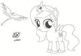 mlp coloring pages princess celestia new filly coloring pages
