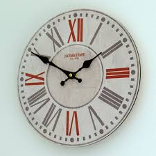 red retro wall clock for decoration clocks