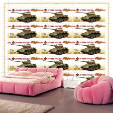 Custom Waterproof Wallpaper,Tanks Postage Stamp Army Wallpaper Papel De  Parede,bar Living Room