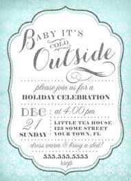 Winter Party Invitation Template | Oxsvitation.com