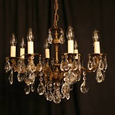 an italian gilded cast brass 8 light antique chandelier an italian gilded cast brass 8