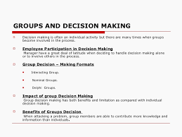 decision making management chapter  part 5 26 groups and decision makingiuml129macr