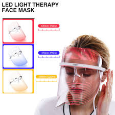 Vision Light Therapy Us 6 49 35 Off Drop Ship 3 Colors Skin Tighten Spa Led Light Therapy Face Mask Treatment Beauty Instrument Anti Acne Wrinkle Anti Aging Removal In
