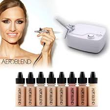 aeroblend airbrush makeup personal starter kit professional cosmetic airbrush makeup system um foundation