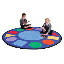 geometric shapes learning rug round