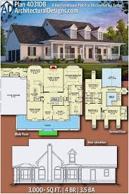 5 bedroom modern farmhouse plans together with awesome architectural designs modern farmhouse plan 4031db has the