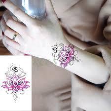 Vodotěsný Dočasné Tetování Nálepka Lotus Totem Mandala Falešné Tatto