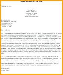 Sample Cover Letter For Experienced Java Developer Cover Letter For