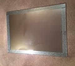 mirror 60 x 90. glitter silver sparkle glass extra large mirror 90 x 65 striped design 60