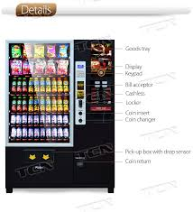 Vending Machine Coin Return Extraordinary Drink Snack And Coffee Combination Vending Machine With Bill Reader