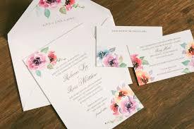 letterpress smock Letterpress Wedding Invitations Ma classic letterpress wedding invitation featuring dreamy watercolor florals from smock letterpress wedding invitations atlanta