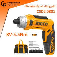 Bộ máy bắt vít dùng pin 5.5Nm Ingco CSDLI0801 túi vải
