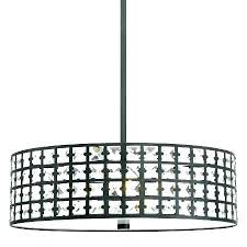 crystal drum shade chandelier with shades special within designs 9 white large