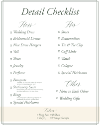 Wedding Detail Checklist 11 12 Wedding Detail Checklist Lasweetvida Com