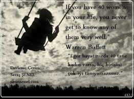 Quote 40 Women Warren Buffett ENGLISHTURKISH QUOTES İNGİLİZCE Best Turkish Quotes About Friendship