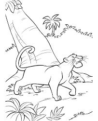 Jungle Boek Kleurplaat Bagheera De Panter