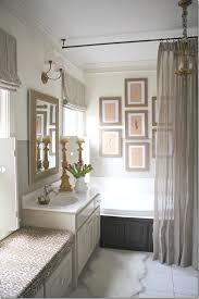 via cote de texas love this bathroom curtain hanging from