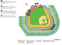 Comerica Park Seating Chart By Rows Mlb Ballpark Seating Charts Ballparks Of Baseball